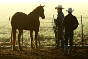 Cowboys Prints - Cowboys and Horse 2AM-30902 Print by Andrew McInnes