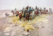 Charles Russell Digital Art - Cowboys by Charles Russell