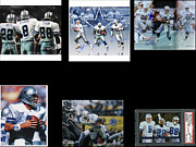 Autographed Metal Prints - Cowboys Triple Threat  Autographed Reprint Metal Print by James Nance