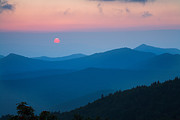 Cowee Mountain Overlook Prints - Cowee Mountain Sunset Print by Bruce Siulinski