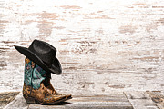 Felt Photos - Cowgirl Boots by Olivier Le Queinec