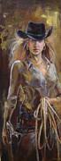 Cowgirl Print by Nelya Shenklyarska