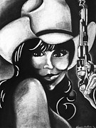 Sheena Prints - Cowgirl Print by Sheena Bolken