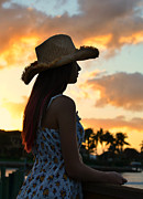 Florida House Posters - Cowgirl Sunset Poster by Laura  Fasulo