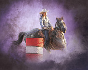 Racer Prints - Cowgirls Dream Print by Ron  McGinnis