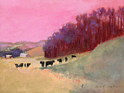 J Reifsnyder Prints - Cows 3 Print by J Reifsnyder