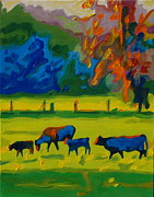 Thomas Bertram POOLE - Cows in Texas Field at...
