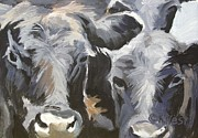 Black Angus Framed Prints - Cows in Waiting Framed Print by Katrina West