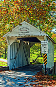 Pennsylvania Art - Cox Farm Bridge by Steve Harrington