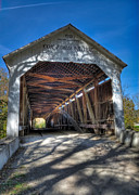 Burr Photos - Cox Ford Covered Bridge by Alan Toepfer