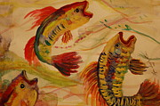 Coy Fish Prints - Coy Fish I Print by Lynn Beazley Blair
