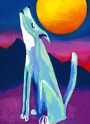 Moon Pastels Metal Prints - Coyote Azul Metal Print by Stephen Anderson