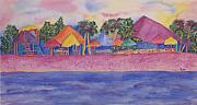 Travel Destination Painting Originals - Cozumel Afternoon by Rhonda Leonard