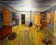 Wooden Cabin Paintings - Cozy Cabin Life by Brent Arlitt