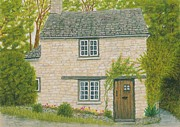 Floral Drawings Originals - Cozy Cottage by Rebecca Prough