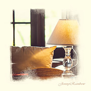 Sofa Art Posters - Cozy Light. Elegant KnickKnacks from JennyRainbow Poster by Jenny Rainbow