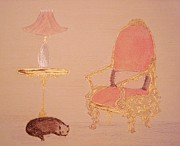 Sleeping Pastels Prints - Cozy Reading Corner Print by Christine Corretti