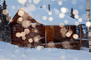 Snowy Evening Posters - Cozy winter cabin Poster by Stephan Pietzko