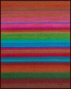 Colored Pencil Painting Metal Prints - CP014 Stripes Metal Print by David K Small