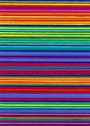 Colored Pencil Prints - CP038 Tapestry Stripes Print by David K Small