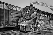 Diesel Locomotives Prints - Cpr 2929 BW Print by Susan Candelario
