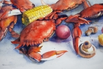 Louisiana Seafood Art - Crab Boil by Sue Zimmermann