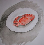 Crab Framed Prints - Crab Framed Print by GuoJun Pan
