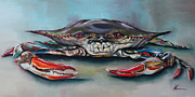 Galveston Paintings - Crab by Kristine Kainer