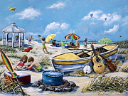 Gail Butler Art - Crab Pickin by Gail Butler