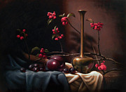 Plum Blossoms Paintings - Crabapple Blossoms by Timothy Jones