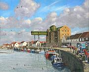 Norfolk; Paintings - Crabbing - Wells-next-the-Sea Norfolk by Richard Harpum