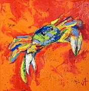Caribbean Sea Paintings - Crabby by Valerie Twomey