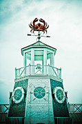 Weathervane Photo Prints - Crabby Weathervane Print by Marilyn Hunt