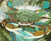 Crabs Paintings - CrabNBowl by Keith Wilkie