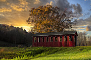 Tennessee Barn Prints - Crack Of Dawn Print by Debra and Dave Vanderlaan