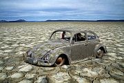 Vw Squareback Framed Prints - Cracked Beetle Framed Print by Steve McKinzie