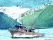 Alaskan Canvas Art Prints Framed Prints - Crackerjack Charters Alaska Framed Print by Jack Pumphrey