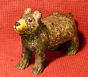 Statue Ceramics - Crackle Bear by Debbie Limoli
