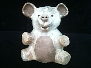 West Ceramics - Crackle Bear by Peter Jakubowski