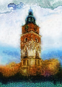 Krakow Prints - Cracov City Hall Print by Mo T
