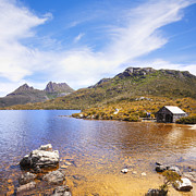 Dove Metal Prints - Cradle Mountain and Dove Lake Tasmania Australia Metal Print by Colin and Linda McKie