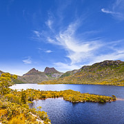 Dove Metal Prints - Cradle Mountain and Dove Lake Tasmania Metal Print by Colin and Linda McKie