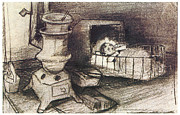 Impressionism Drawings Prints - Cradle Print by Vincent van Gogh