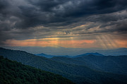 Carolina Photos - Craggy Gardens Sunset by John Haldane