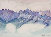 Craggy Peaks Print by Carolyn Doe
