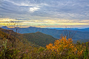 Blue Ridge Mountains Posters - Craggy Sunrise Poster by John Haldane