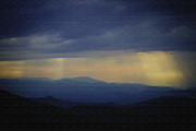 John Haldane Paintings - Craggy Sunset in Paint by John Haldane