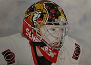 Goalie Paintings - Craig Anderson by Betty-Anne McDonald