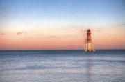 Sunrise Lighthouse Framed Prints - Craighill Channel Lighthouse Framed Print by JC Findley