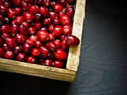Cranberry Photo Prints - Cranberries Print by Edward Fielding